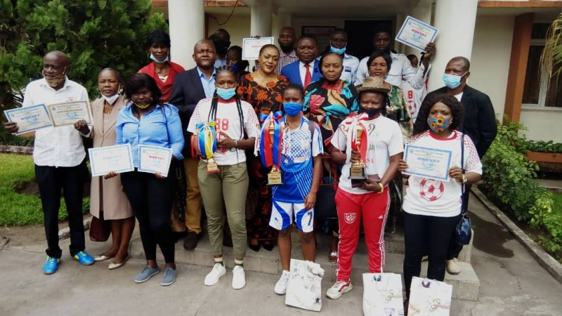 FOOT: Les meilleures de la saison 2019-2020 récompensées par la Commission Provinciale de Football Féminin de Kinshasa