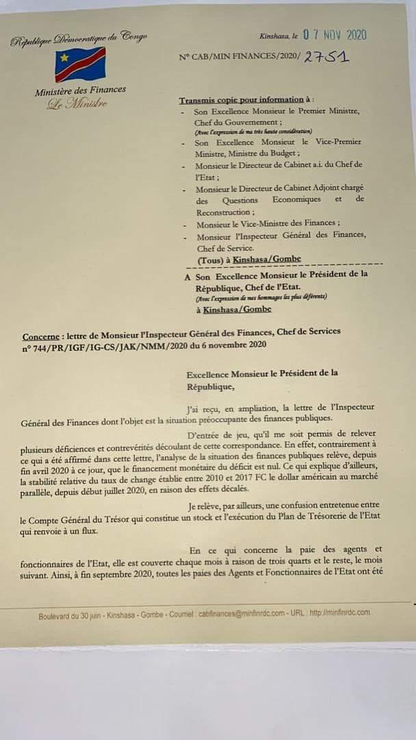 RDC Finances Publiques: La cacophonie continue