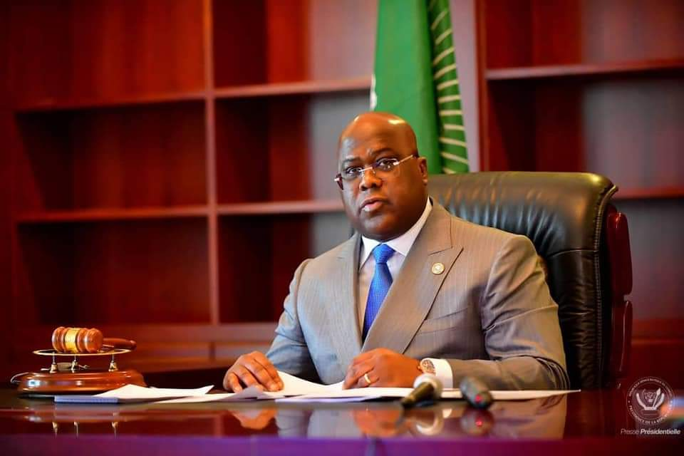 Félix TSHISEKEDIclôture  les travaux  de la 34èmesession des chefs d'état de l'union africaine