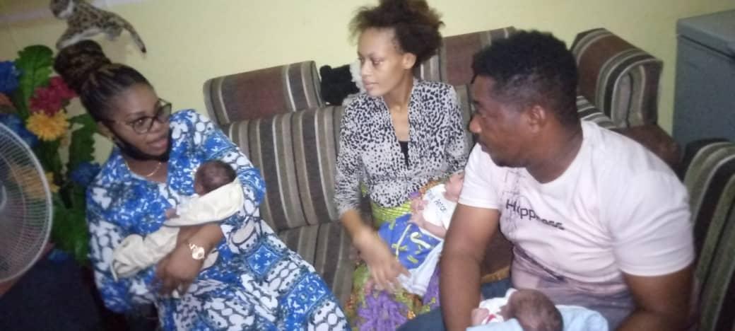 Kinshasa:Marthe tshisekedi à la rescousse d'une famille qui a accouché un triplé  Editorial7.net